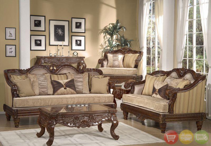 Formal Luxury Sofa Set Traditional Living Room Furniture