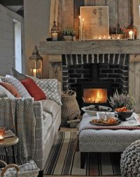 Warm and Cosy Living Room with Rustic Fireplace | Cosy ...