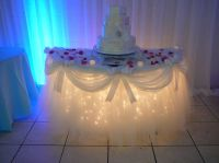 Lighted Table Skirt ~ elegant for Weddings. | Entertaining ...