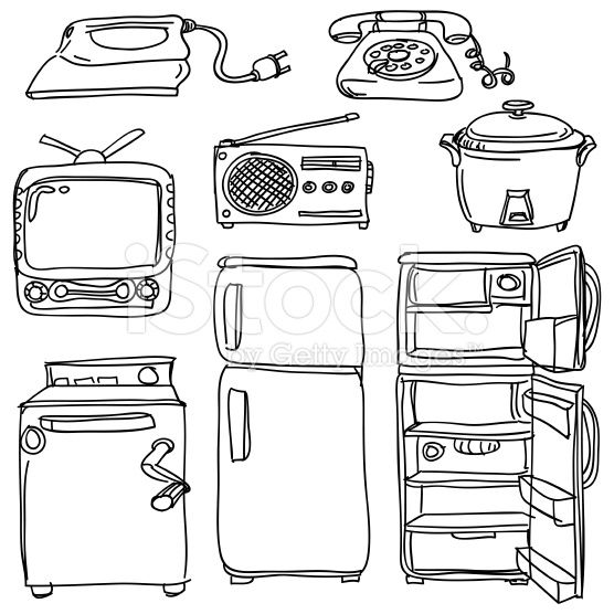 Kitchen Appliances Colouring Pages Sketch Coloring Page