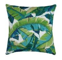 Tropical Outdoor Pillow Cover, 21x21 Green outdoor cushion ...