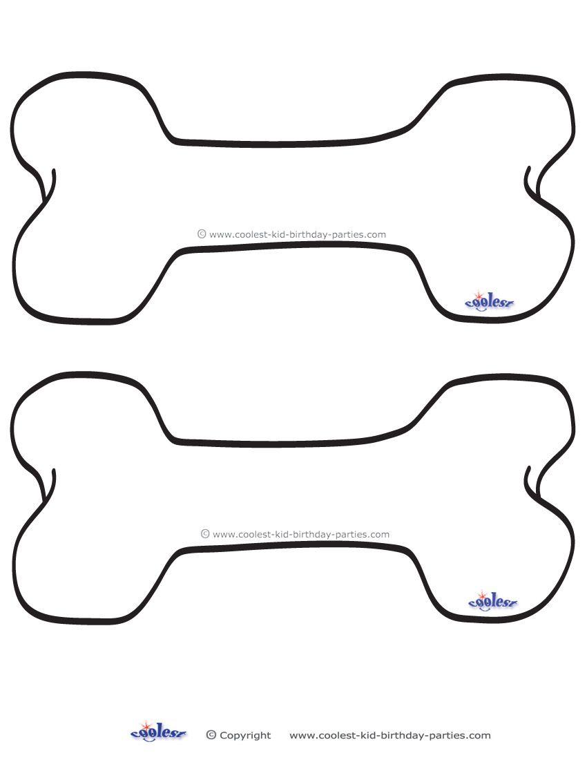 Blank Printable Dog Bone Invitations Coolest Free