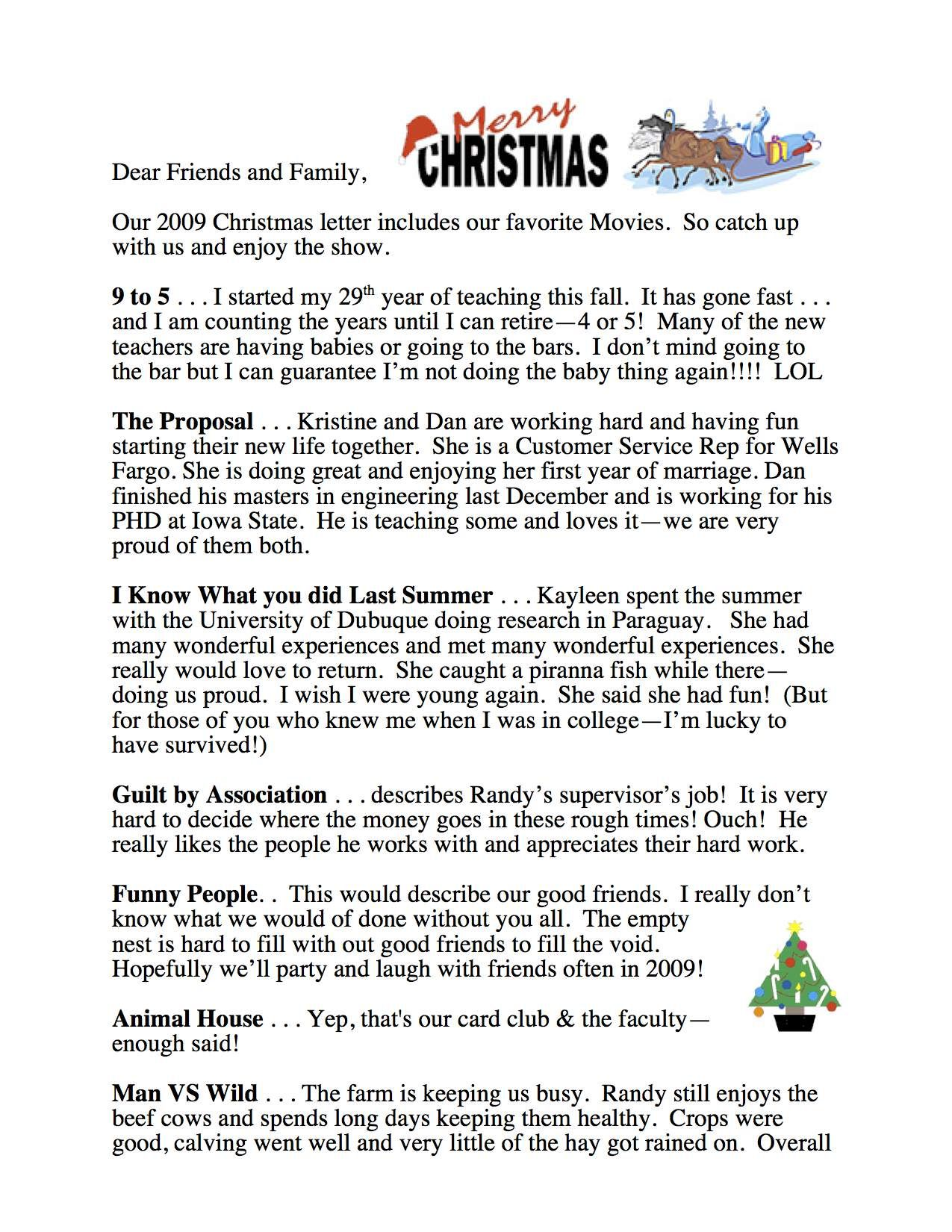 Christmas Letters Friends