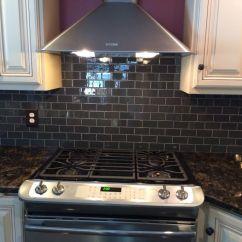 Glass Kitchen Backsplash Lights Under Cabinets Gorgeous With Tile Installed