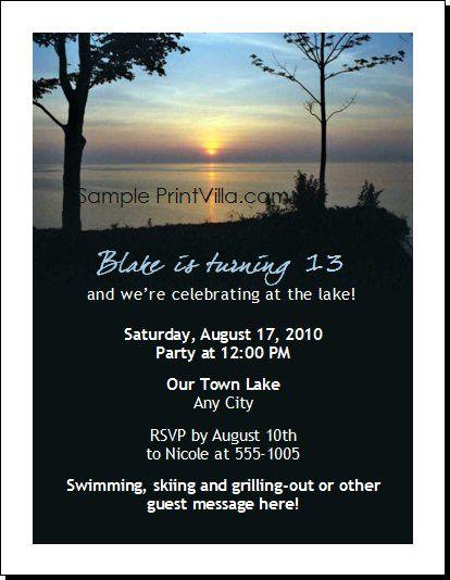 Printable Event Invitations