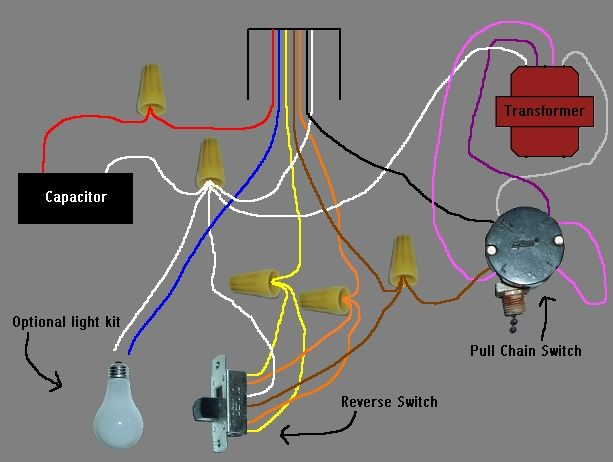 Ceiling Fan Speed Switch Wiring Diagram Electrical Pinterest