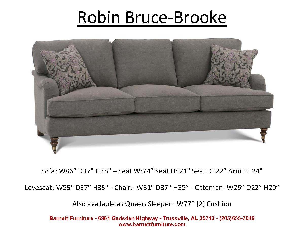average size of a sofa futura cordovan leather robin bruce brooke you choose the fabric