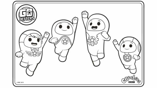 Go jetters coloring pages for kids