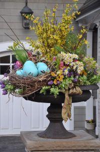 Easter urn- outdoors | Spring Decor | Pinterest | Urn ...
