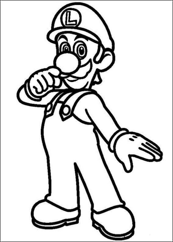 Mario Bross Tegninger til Farvelægning. Printbare