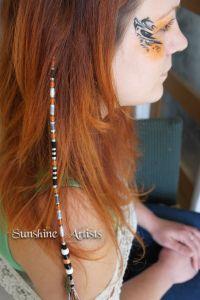 Goldfish pattern hair wrap, hair braid, hair art - orange ...