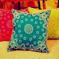 Pillows I made from bandanas :)   DIY   Pinterest   Best ...