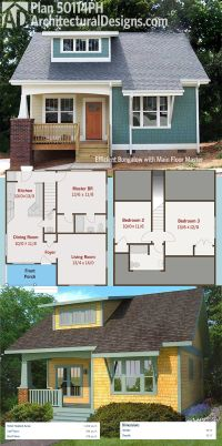 Plan 50114PH: Efficient Bungalow with Main Floor Master ...