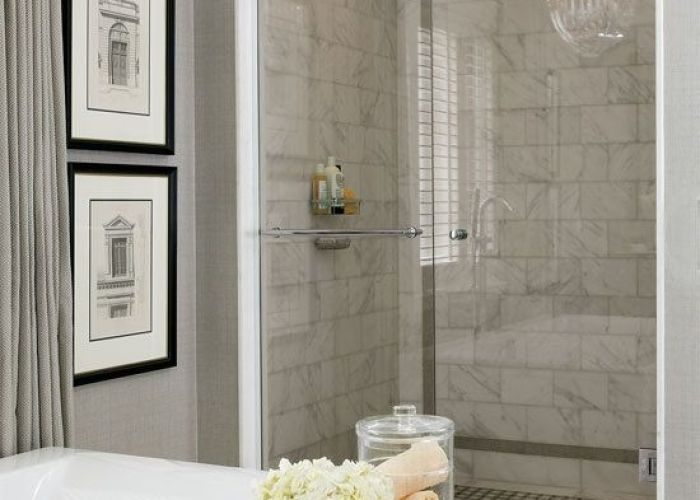 Brilliant home interior design grey bathroom ideas marble tile shower backsplash also