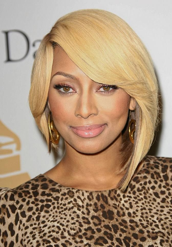 Asymmetrical Celebrity Bob Hairstyles For Black Women With Side