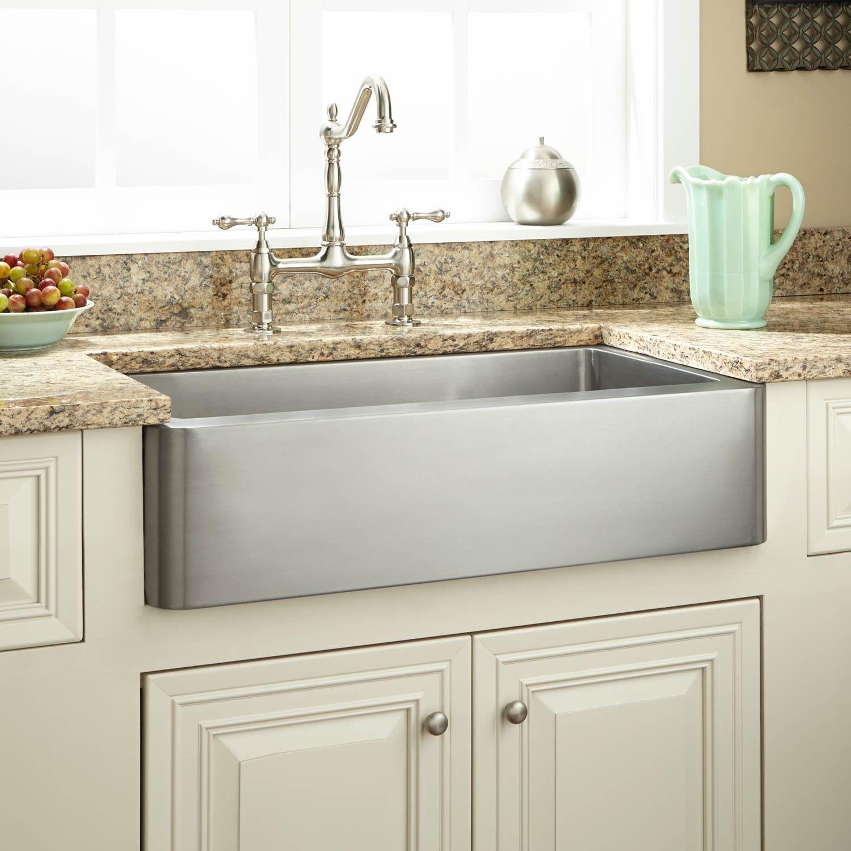 farm sinks for kitchens electric grinder kitchen 27 quot hazelton stainless steel retrofit farmhouse sink