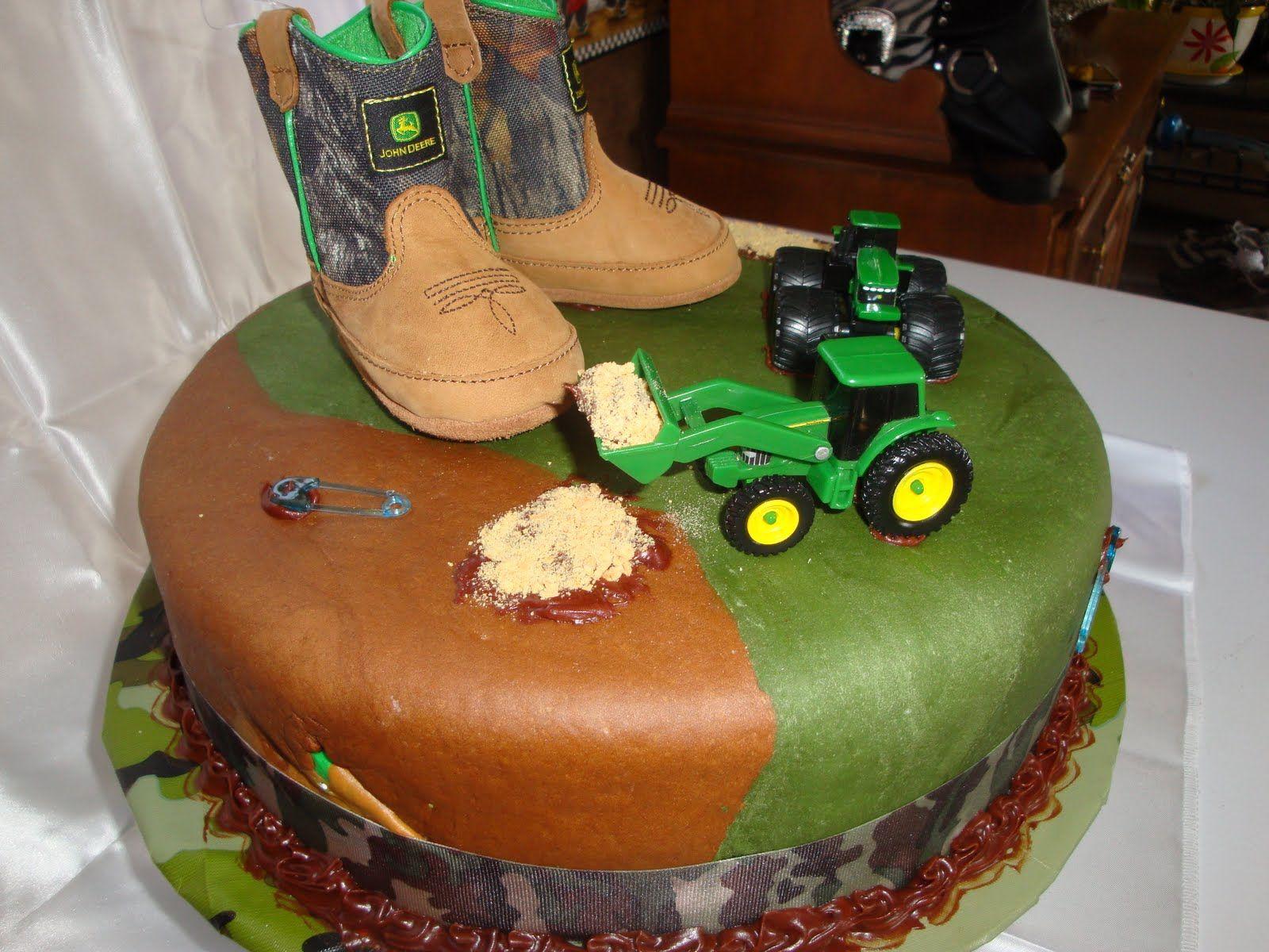 Camo Baby Shower Cake Ideas