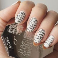 Lovely Lip Cup Letter Pattern Nail Art Stamp Stamping ...