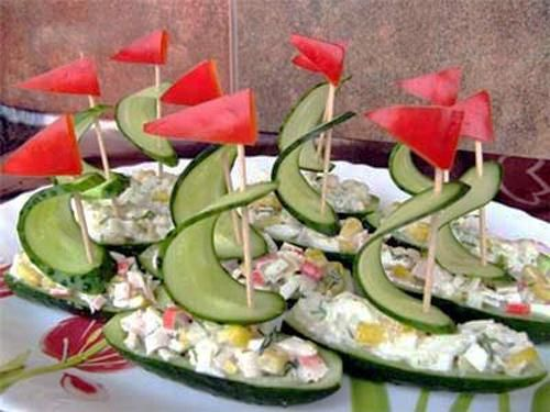Salads And Edible Decorations For Party Table Fathers Day Ideas