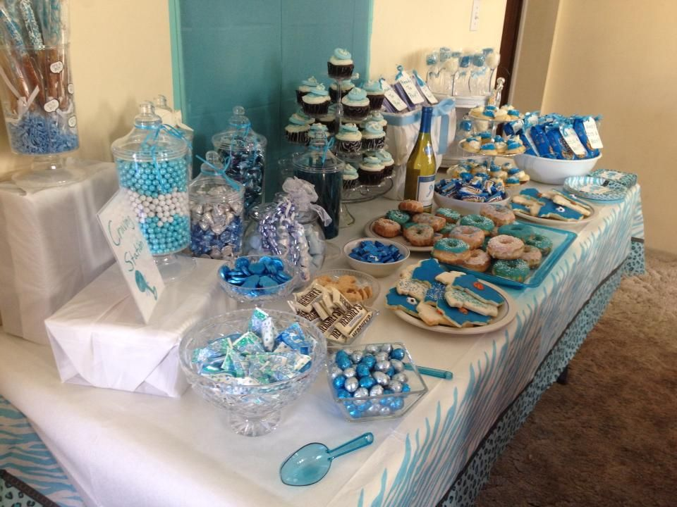 Candy table for boy baby shower!
