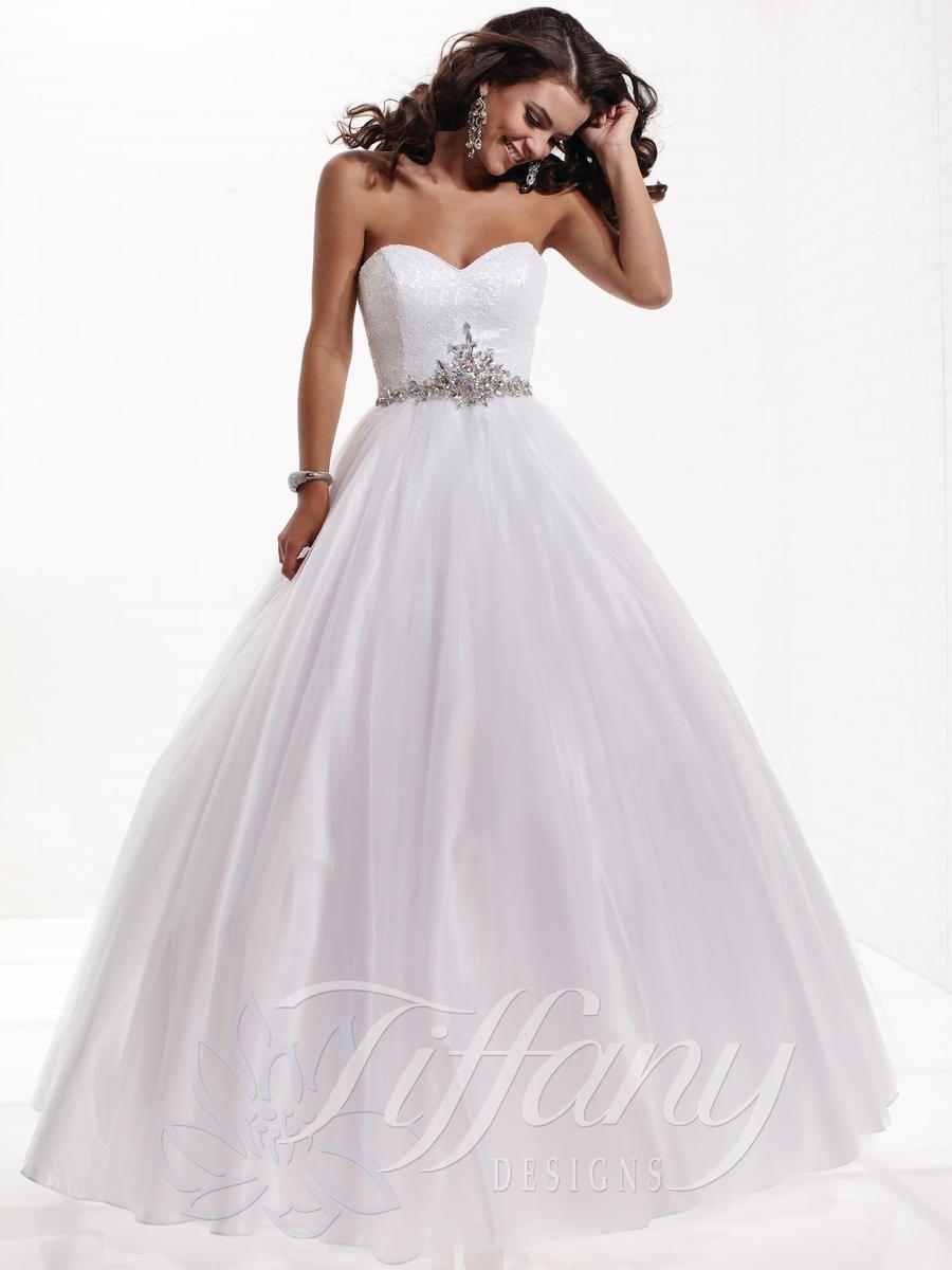 debutante gowns white