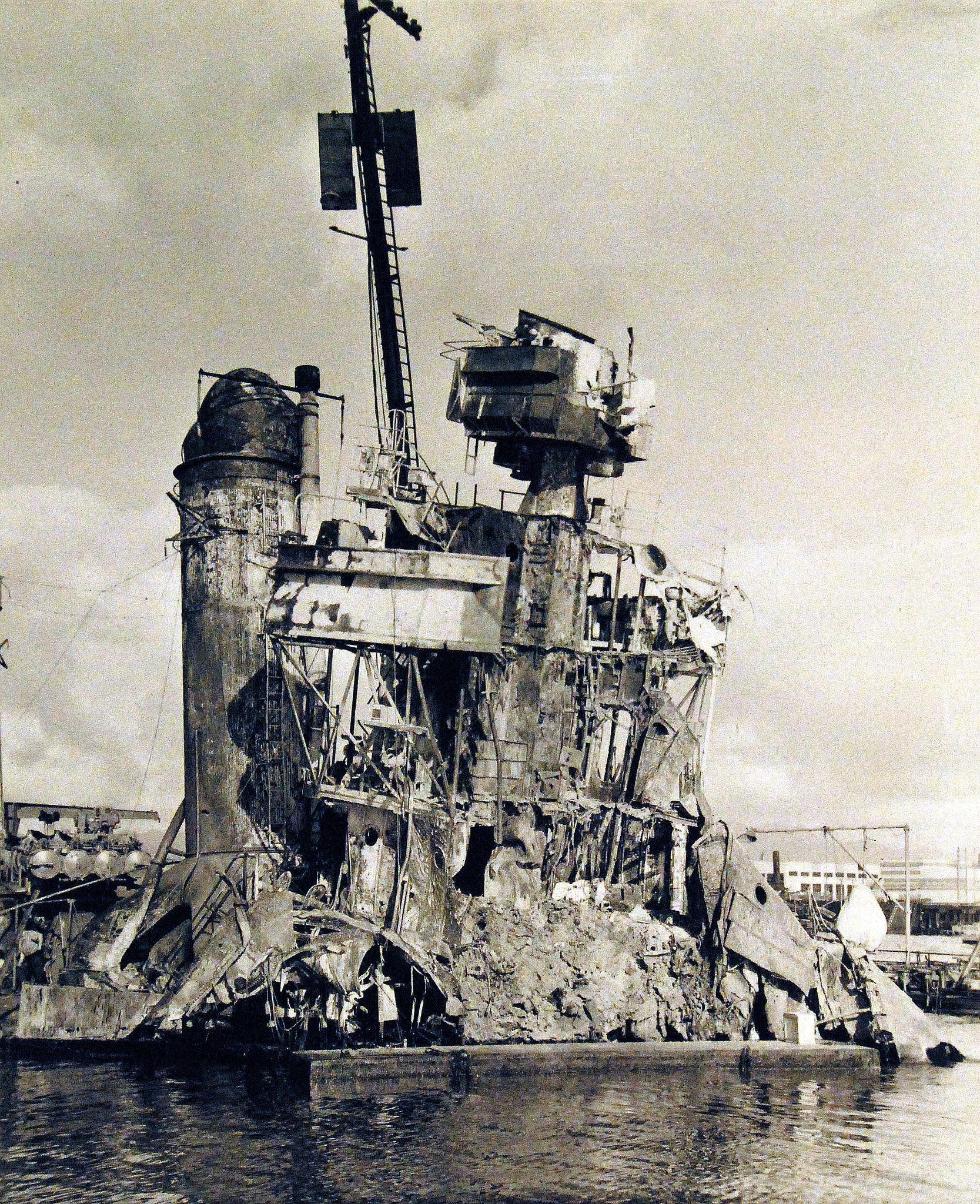 80 G Japanese At Pearl Harbor 7 December Uss Shaw Dd 373 Starboard