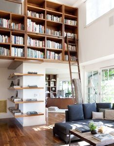 Love books and this is  great bookshelf ideaminds me of old time libraries bit with the ladder idea if you have high ceilings but not lot also definitely need to reach these bookshelves they are rh pinterest