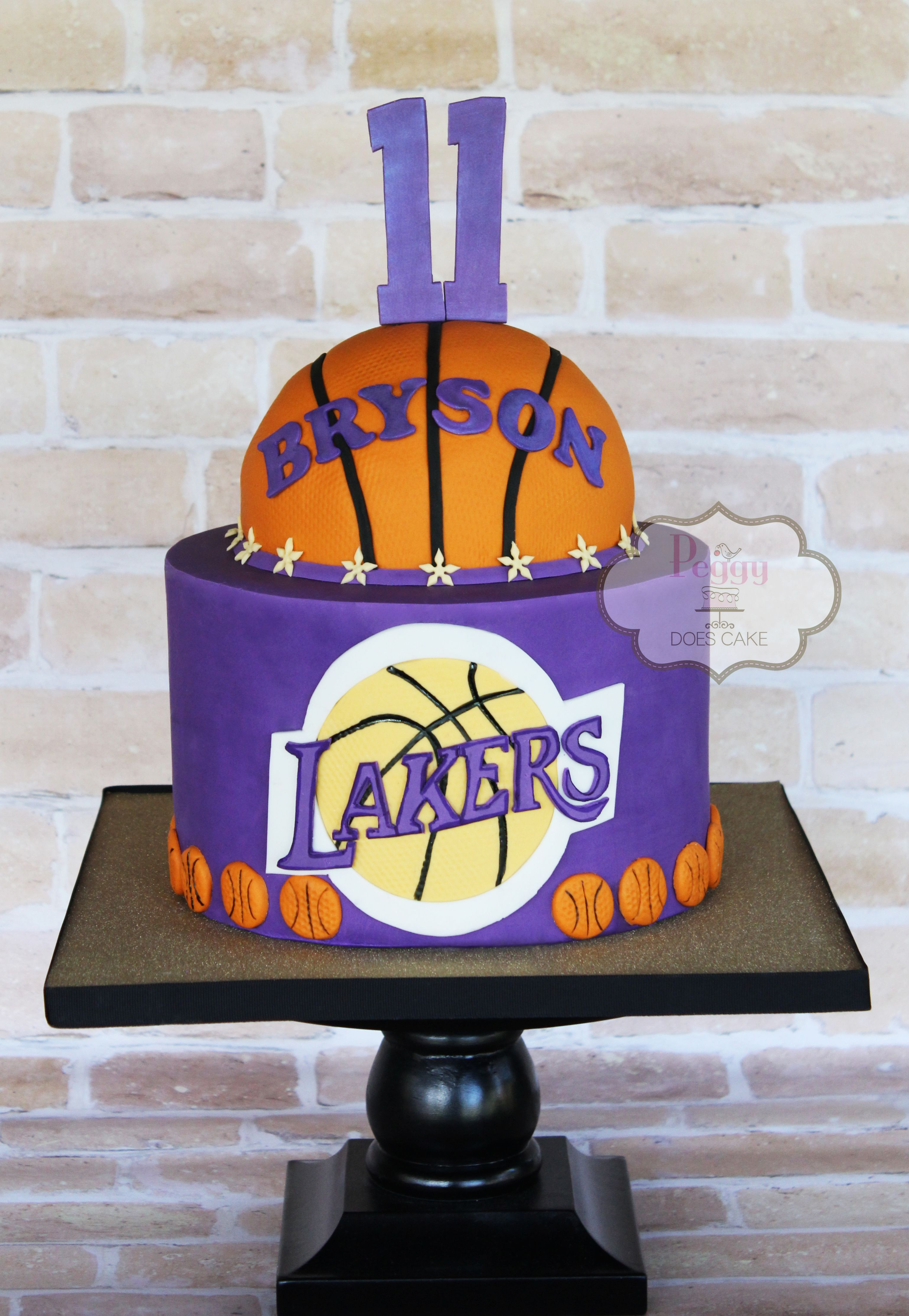Peggy Does Cake Brandon Mississippi Lakers Cake
