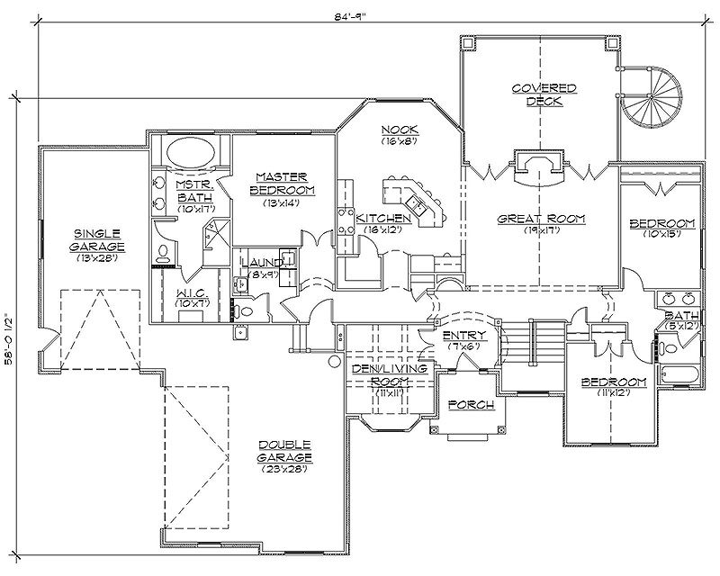 Rambler House Plans With Basements
