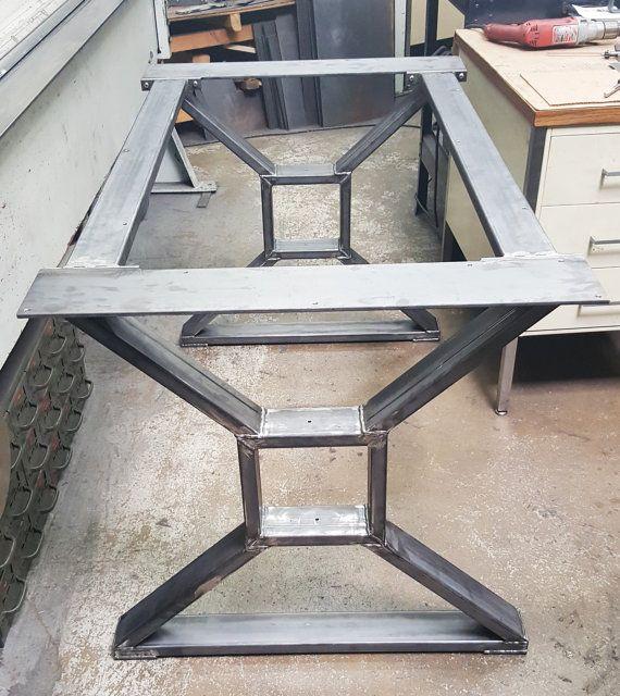 Moderno mesa comedor X patas modelo 006 con 2 llaves mesa maciza de 3 x 1 tubera 14 x 5 montaje en parte superior y 2 llaves Cruz