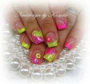 cute colors nail art design