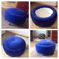 Recycled tyres ottoman | furniture | Pinterest | Tire ...