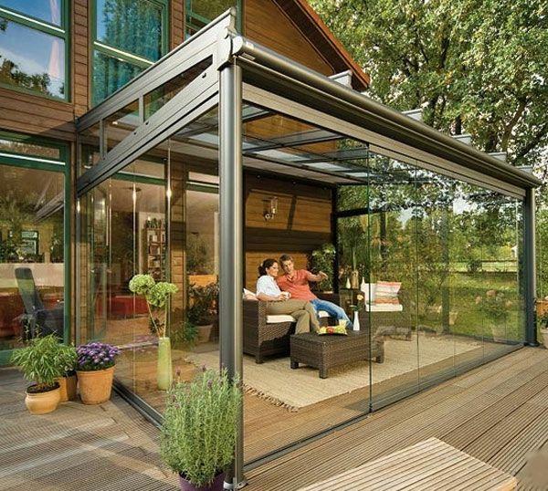 Balkon Oder Terrasse Wintergarten Aus Glas Schlicht Aber Bequem