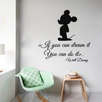 Mickey Mouse Wall Decals Quote If You Can Dream It You Can ...