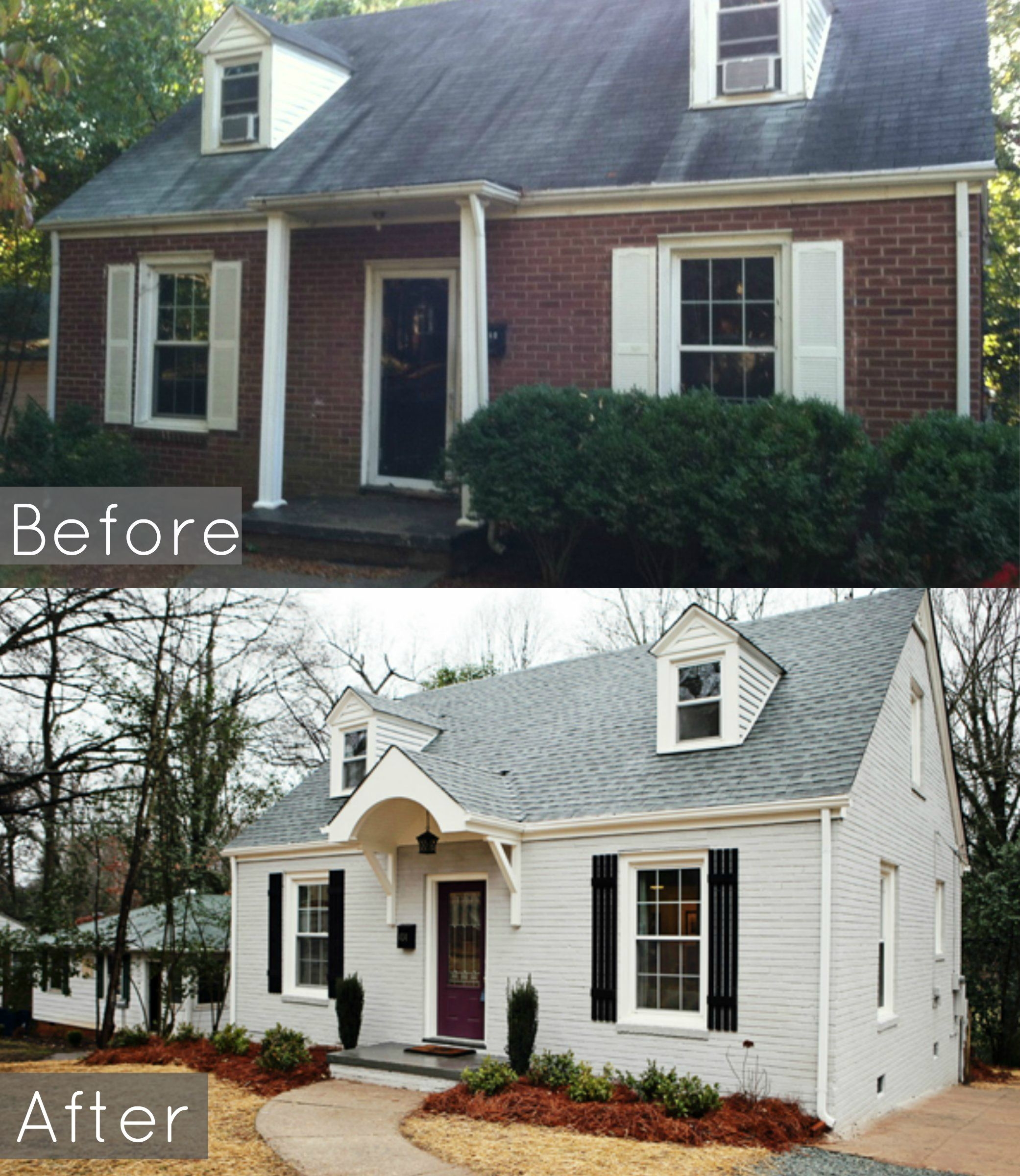 Here Is A Before And After Of This 1950's Cape Cop We Remodeled