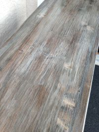 Weathered oak / driftwood finish achieved by layering dark ...