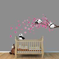 Panda Cherry Tree Wall Decals, White or Pink Cherry ...