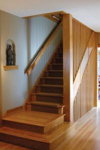 Mission style stair railing | Home renos ideas | Pinterest ...