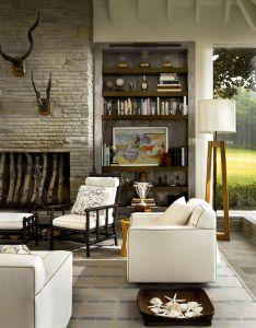 Lake house living room suzanne lovell inc modern interior designinterior also muebles rh pinterest