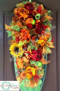 Fall Swag | Halloween and Fall Wreaths | Pinterest | Fall ...