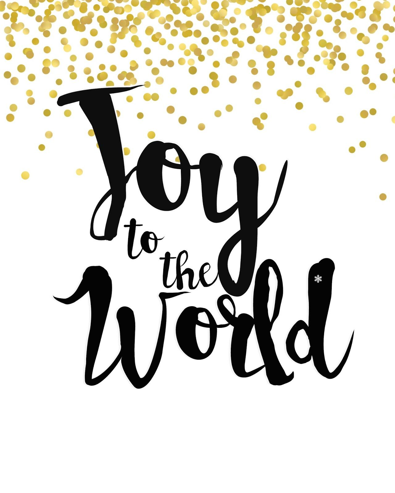 Mimi Lee Printables Amp More Joy To The World Black And Gold Free Printable