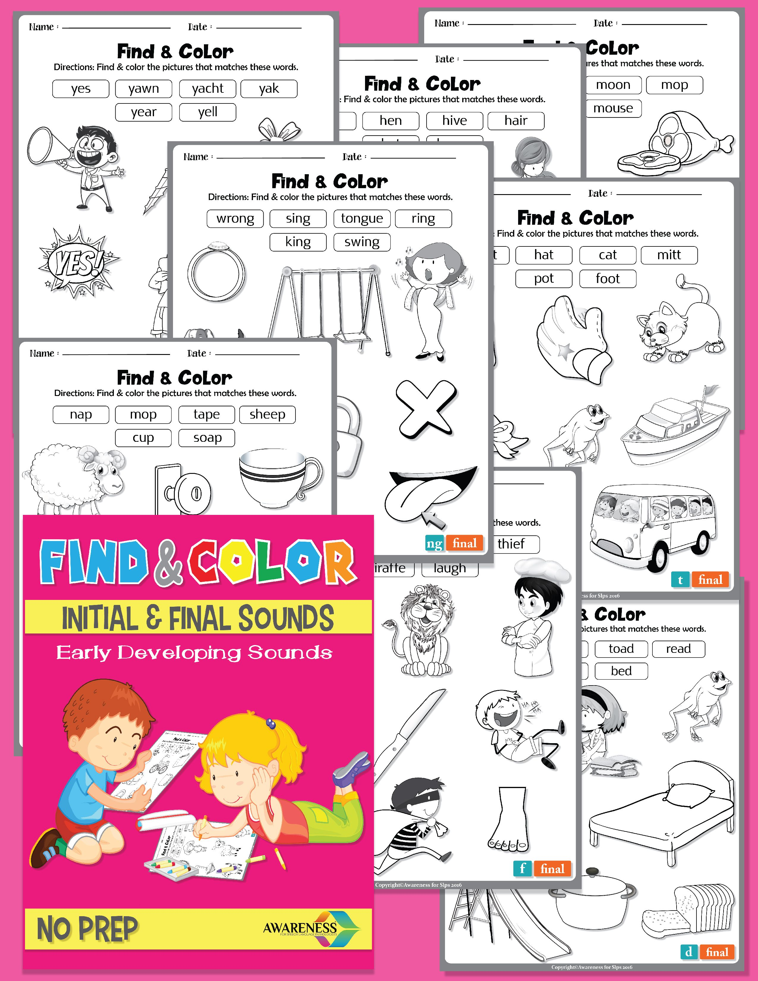Find Amp Color Phonological Process Early Developing Sounds