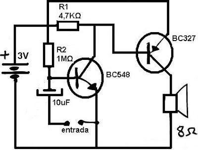 Amplificadores de audio: Amplificador de audio de 3 volt