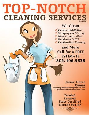 Top Notch Cleaning Services' Business Flyer Design ' Cleaning