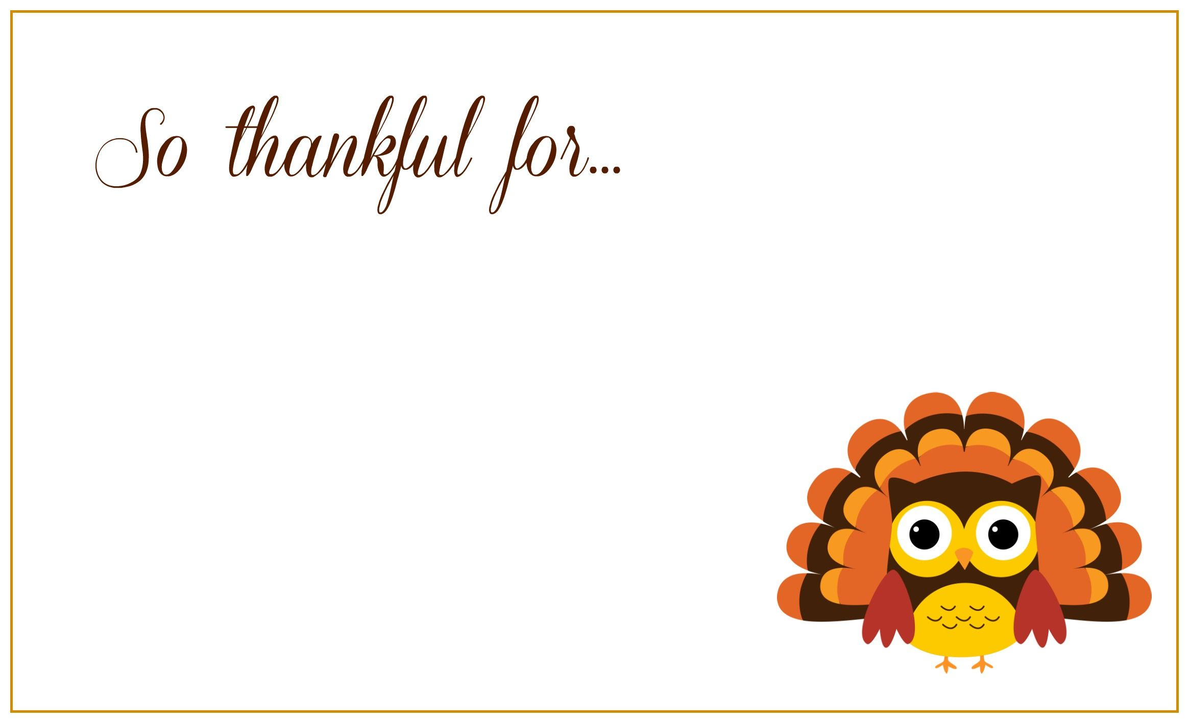 Free Printable Thanksgiving Greeting Cards