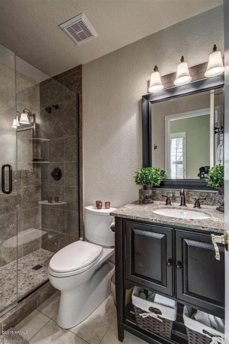 99 small master bathroom makeover ideas on a budget (111) | bath