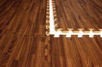 Interlocking Foam Mats that look like wood. Great for a ...