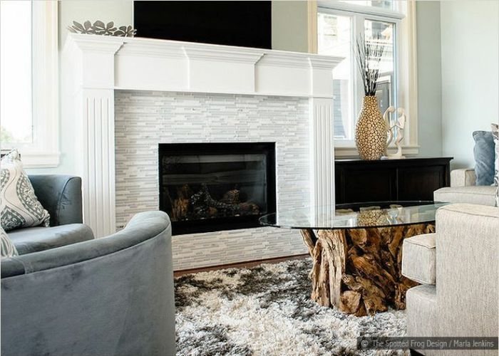 Glass tile fireplace surrounds white marble fireplac thinner frame also