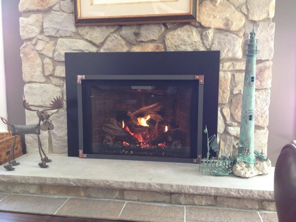 Mendota Full View 44 Gas Fireplace Insert with Vintage