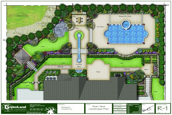 full rendered landscape plan